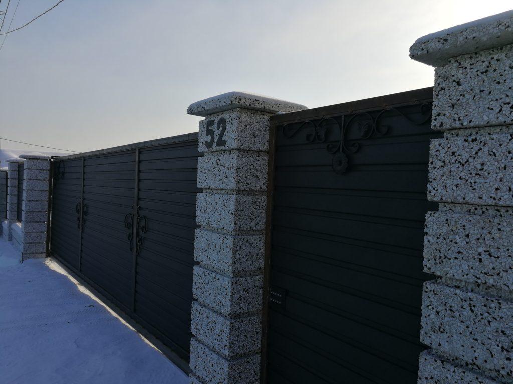 Забор фактура «шахматка» , ДНТ Полет