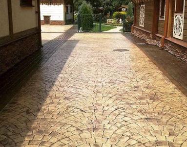 Декоративное покрытие Печатный бетон