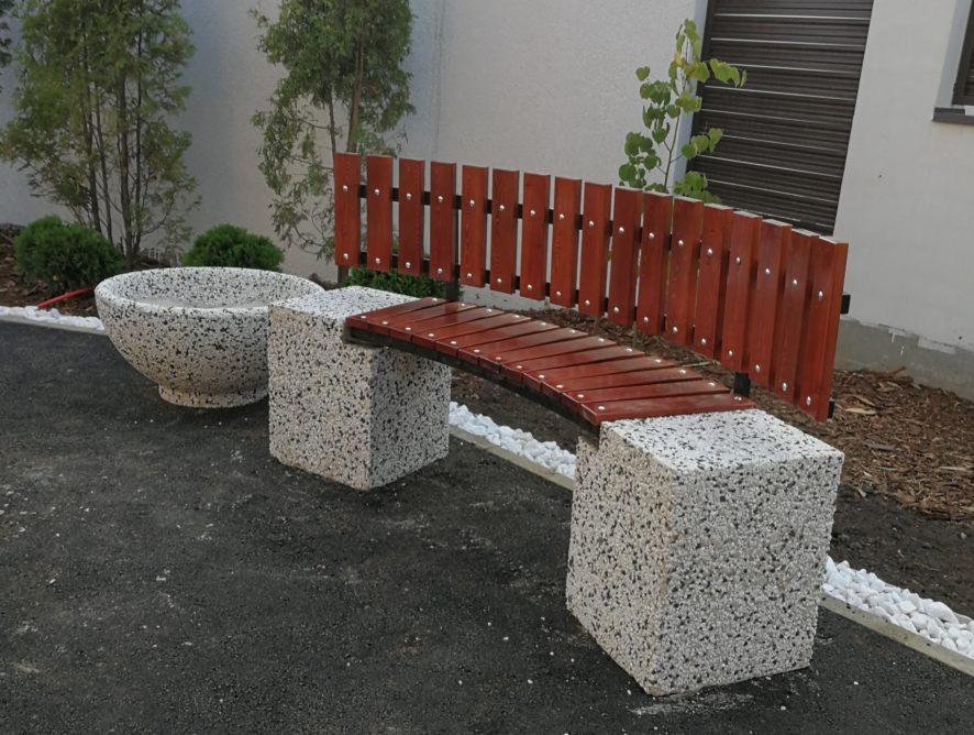 бетонные парковые скамейки