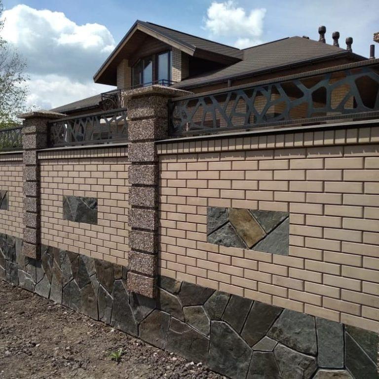 Забор комбинированный пос. Молодежный